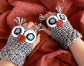 Saw these cute gloves on Etsy:  Owl Always Love you!