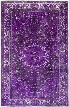 Vintage purple handwoven one of a kind Turkish rug