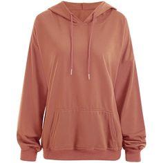 Orange Yellow XL Plus Size Drop Shoulder Plain Hoodie with Pocket ($15) ❤ liked on Polyvore featuring tops, hoodies, brown hooded sweatshirt, yellow hoodies, womens plus hoodies, yellow hoodie and yellow hooded sweatshirt