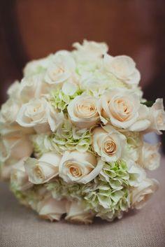 pastel rose & hydrangea bridal bouquet / Koru Wedding Style: {Winter Winery Wedding} Danielle & Coulter