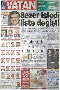 Vatan gazetesi 18 kasım 2002