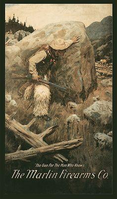 1906 Marlin Firearms Advertisement by Philip R Goodwin /eBay