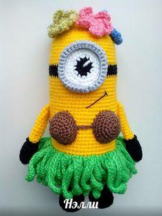 33 Ideas crochet amigurumi free patterns disney despicable me for 2019 Crochet Scarf Easy, Crochet Flower Hat, Crochet Dragon, Crochet Amigurumi Free Patterns, Crochet Dolls, Crochet Crafts, Crochet Projects, Crochet Pillow Cases, Baby Boy Crochet Blanket