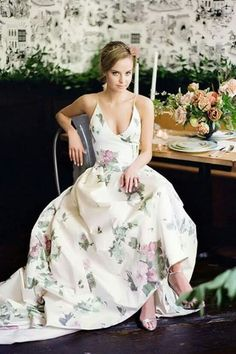 d7637747a05 +sleeves-train and it s perf Floral Wedding Dresses