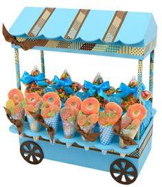 Despachador de dulces para fiestas infantiles /Dulceros / Azul