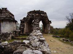 Palenque Ruins: Mayan ruins and corbeled arches at palenque, Mexico.  #Palenque Ruins #Ruins #Mexico