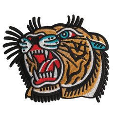 'Lindauer Tiger' Patch (Large) – Few and Far Collective #patch #tiger