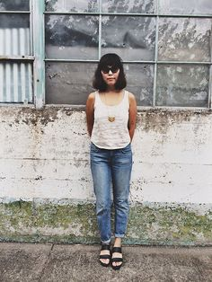 White Linen Wiley Tank in Meeko Print Cropped by localparitygoods