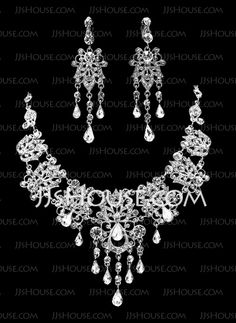 Jewelry - $39.99 - Jewelry Sets Anniversary Wedding Engagement Birthday Gift Party Alloy With Rhinestones Silver Jewelry With Rhinestone (011019378) http://jjshouse.com/Jewelry-Sets-Anniversary-Wedding-Engagement-Birthday-Gift-Party-Alloy-With-Rhinestones-Silver-Jewelry-With-Rhinestone-011019378-g19378