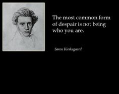 Soren Kierkegaard. Christian Philosopher and Theologian.