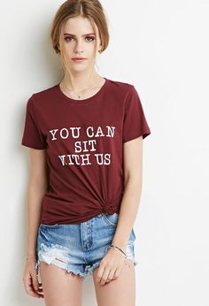 FOREVER 21 Sit With Us Tee