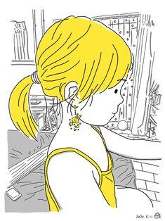 Imagined earrings Behance, Tweety, Logo Design, Illustrations, Earrings, Fictional Characters, Ear Rings, Stud Earrings, Illustration