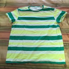 Mens green stripe Tee XL NWOT New without tag Mens green stripe t shirt. Size XL. BRAND IS SCOTCH CALIFORNIA  shirt measures just short of 30' from shoulder to bottom Scotch California Tops
