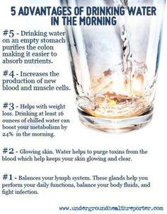 Reasons to drink water in the morning.