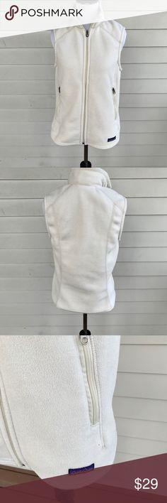 91ed056d3690 Patagonia Synchilla Women s Fleece Full Zip Vest Patagonia Synchilla  Women s White Fleece Full Zip Vest Size