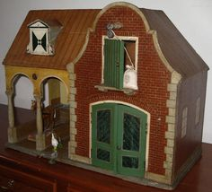 Toy Stable. Circa 1900. Holland. Pieternel Antique Toys