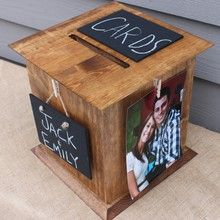 Rustic Wood Wedding Card Box