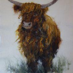 Andrea Hunter felt: Highland Cow