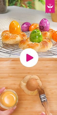 Osternester backen – so geht's Easter Dinner Recipes, Easter Brunch, Curd Recipe, Just Bake, Easy Baking Recipes, Special Recipes, Holiday Baking, Food And Drink, Sweets