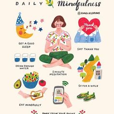 Hello everyone! I hope you are having a nice relaxing weekend. I wanted to upload this illustration again for long time because I made a… Self Care Activities, Self Care Routine, Mindful Living, Good Sleep, Healthy Mind, Self Development, Better Life, Self Improvement, Self Help