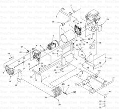 Generac Power 0049871 - Generac Centurion 15,000 Watt Portable Generator (SN: 4481964 - 4483885) (2006) Commercial-Industrial-Residential Portable Generator System Generator (0G0742-A) Diagram and Parts List | PartsTree.com