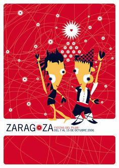 Cartel Fiestas del Pilar año 2006 Titulo:Un gran fiesta. Descriptor: Miguel Iguacen