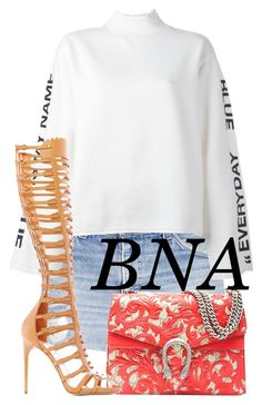 """BNA"" by deborahsauveur ❤ liked on Polyvore featuring Steve J & Yoni P and Paul Andrew"