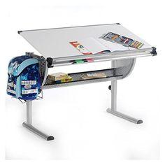 #Kinderschreibtisch #Schülerschreibtisch #Schreibtisch Tisch MADS Höhen  Und  Neigungsverstellbar, Weiß, Stabiles
