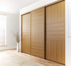 Oak door traditional fitted sliding wardrobe