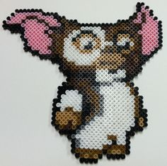 Perler beads Art: Gizmo by ~thewiredslain on deviantART Melty Bead Patterns, Pearler Bead Patterns, Perler Patterns, Beading Patterns, Perler Bead Templates, Diy Perler Beads, Perler Bead Art, Pixel Beads, Fuse Beads