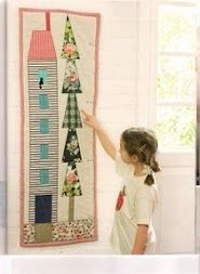 Growth chart?  Fun house and floral tree idea.