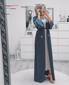 10 Hijab Styles For Petite Girls Ideas Hijab Style Dress, Modest Fashion Hijab, Modern Hijab Fashion, Hijab Fashion Inspiration, Islamic Fashion, Hijab Chic, Abaya Fashion, Muslim Fashion, Mode Inspiration