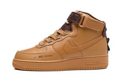 Nike Air Force 1 High Utility Wheat Unisex Sneakers Shoe. One unique Air Force sneaker.