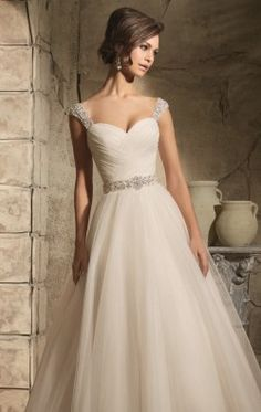 Crisscross Tulle Ballgown by Blu by Mori Lee 5375