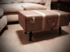 my DIY vintage suitcase table