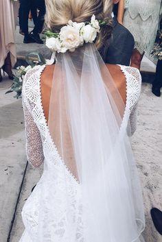 Lauren in our MAI gown & KINGA veil   Grace Loves Lace