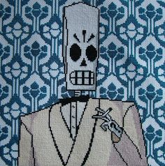 NEED THIS PATTERN, PEEZ!  Grim Fandango Cross Stitch