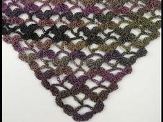 Crochet : Motivo Flor y uniones en Punto Salomón - YouTube