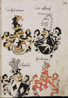 Wappenbuch des St. Galler Abtes Ulrich Rösch Heidelberg · 15. Jahrhundert Cod. Sang. 1084  Folio 124