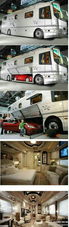 most luxurious race car transporter in the world
