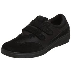 Grasshoppers Womens Stretch Plus Velcro SneakerBlack9 M US -- Visit the image link more details.
