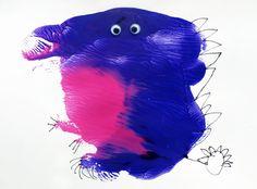 Purple Splat Monster by Artful Kid, via Flickr