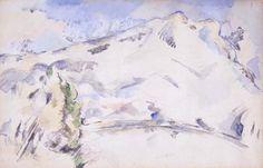 Paul Cézanne - Mont Saint-Victoire (La Montagne Sainte-Victoire)Paul Cézanne French, 1839–1906 Mont Saint-Victoire (La Montagne Sainte-Victoire)  c. 1900 Watercolor and graphite on wove paper 12 1/2 x 19 in. (31.8 x 48.3 cm)