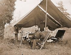 Gen. Phil Sheridan in the field - One of the greatest Cavalry Commanders of the War. He was driven and ruthless ...