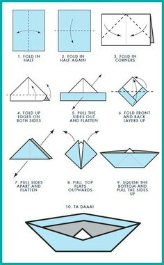 how to make paper boats and hats
