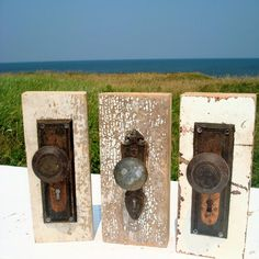 Two beautiful views, gorgeous old door knobs and a beautiful landscape behind.