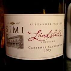 SIMI Landslide Vineyard Cabernet Sauvignon 2003