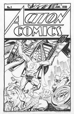 Reimagined Action Comics cover commission by John Byrne Comic Book Artists, Comic Artist, Comic Books Art, Comic Character, Character Design, Action Comics 1000, Superman Artwork, Comic Pictures, Comic Pics