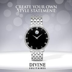 Would you like to own this beautiful Solitaire studded watch?
