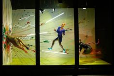 Harvey Nichols Leopard Explosive Movement Window Displays 2012